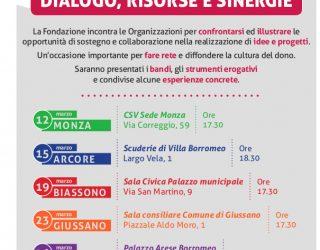 VENERDì 23 MARZO – Tappa a Giussano – Dialogo, risorse e sinergie – FONDAZIONE della Comunità MONZA BRIANZA